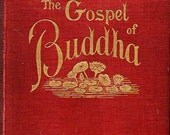 The Gospel of Buddha According To Old Records by Paul Carus 1894 First Edition Hardcover