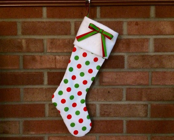 The Joy Christmas Stocking Handcrafted Modern Stocking For