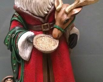 SALE!!!   Father Santa -- Heirloom-quality handpainted ceramic Santa -- Christmas mantel decor