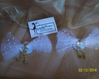 Wedding shoes / shoes jewelry / Clips of white shoes for marriage or ceremonies / wedding shoe clips
