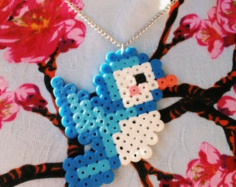 Blue Bird Hama Necklace