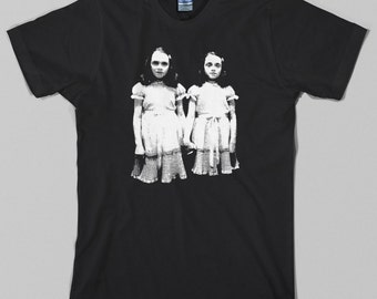 Shining T Shirt  - grady twins, stanley kubrick, overlook hotel, motel, novel, redrum, stephen king - Graphic Tee, All Sizes & Colors