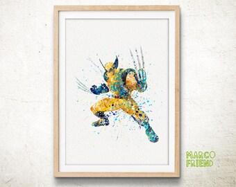 X-Men Superhero Wolverine Watercolor Art Poster Print - Wall Art - Home Decor - Watercolor Painting - Kids Decor - Illuatration Art - 53