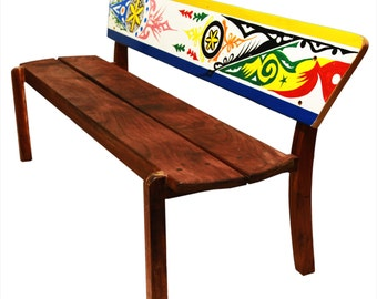 Triple bench YOFF in solid wood with Dugout