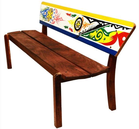 Triple Bench Yoff In Solid Wood With Dugout By Demcodesign On Etsy