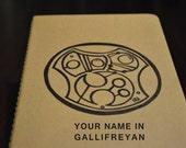 Doctor Who Notebook - Your name in Gallifreyan - Personalized Moleskine Journal - Custom Gallifreyan