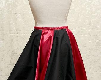 Circle skirt, skater skirt - gothic, punk - (27 inch waist)