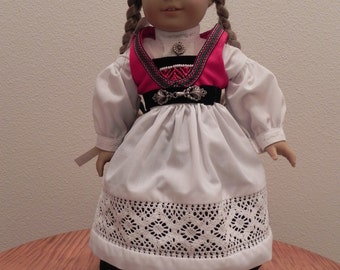 Norwegian traditional dress for American Girl Doll