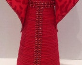 REGAL RED ANGEL! A unique Valentine's gift.  Lovely in wedding decor as a centerpiece, cake topper or on a sweetheart table