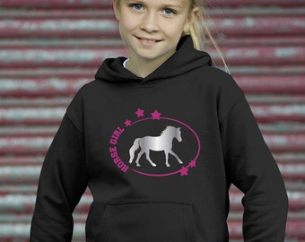 Horse Girl Hoodie - Kids sweatshirt