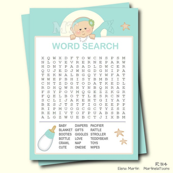 baby word search game printable baby shower game girl baby shower