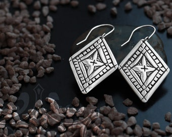 Silver Tribal Earrings, Berber Jewelry, Silver Tribal Jewelry