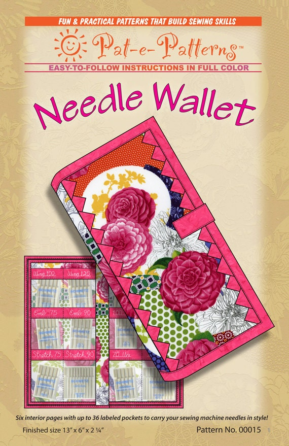 Needle Wallet Pattern For Organizing Sewing Machine Needles