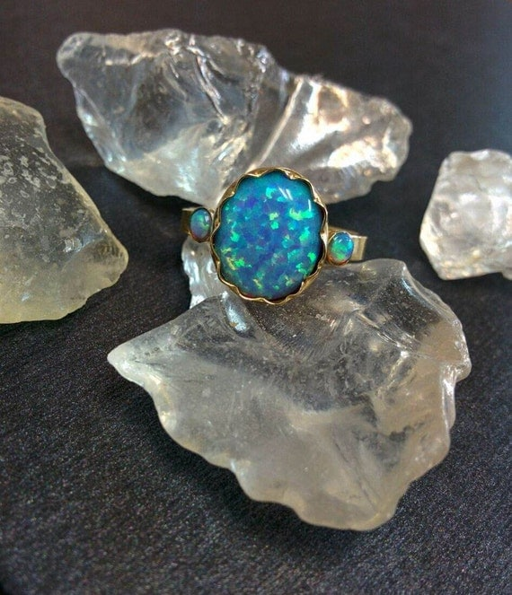 Items Similar To Opal Ring Exquisite Braided Opal: Items Similar To 14k Yellow Gold Opal Ring, Opal Gold Ring