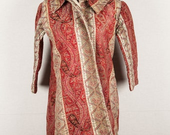 Indian KASHMIR JACKET  made from a shawl 1850s id: 0175 FREE shipping with ups