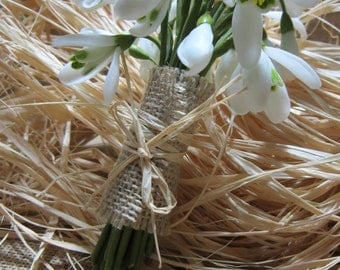 snowdrop, clay flower