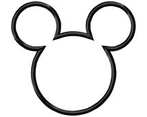 Pirate Mickey Head Outline