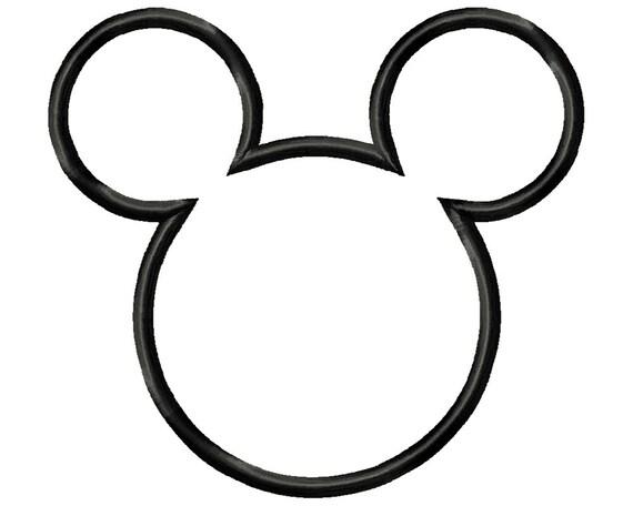 Topolino Applique Design Disney Disegno Testa Topolino