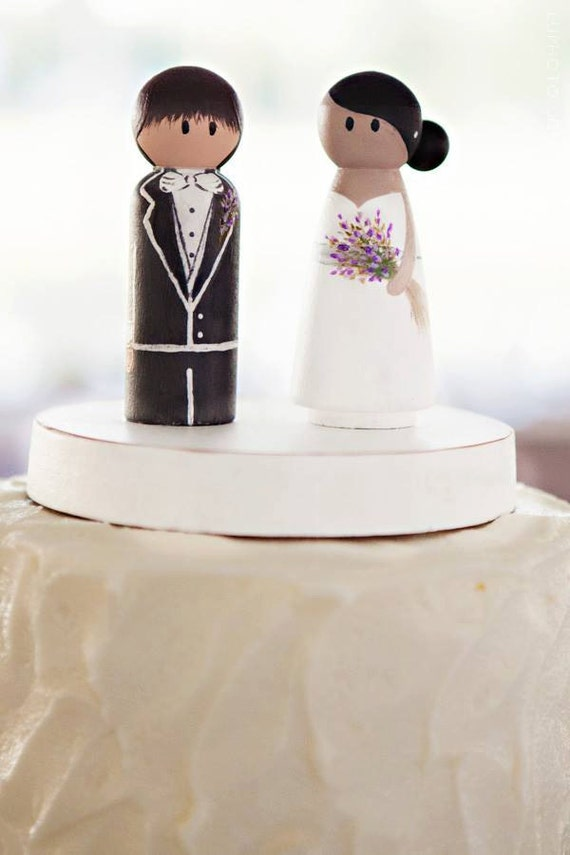 easy to make wedding cake toppers wedding cake topper simple groom wedding peg 13831