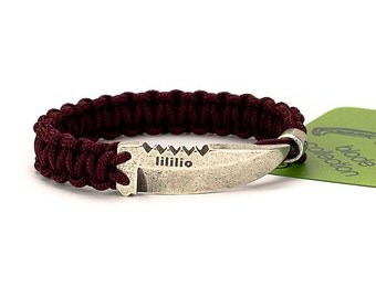 Cobra bracelet - cobra paracord bracelet with unique clasp in the form of a knife. You never seen before! Adjustable color.