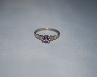 Sterling silver Amethyst ring size 9