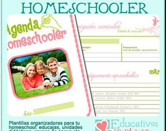 Agenda homeschooler imprimible - español -