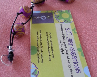 What a strange violet! (bracelet)