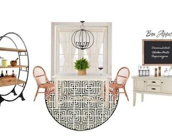 Dining Room Interior Design l Virtual Interior Design l Interior Design On A Budget l Affordable Interior Design