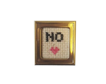 No framed cross stitch