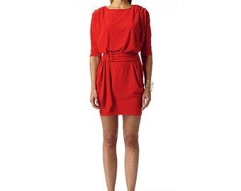 Badgley Mischka designer Vogue pattern V1337 Misses' Dress and Belt - new and uncut