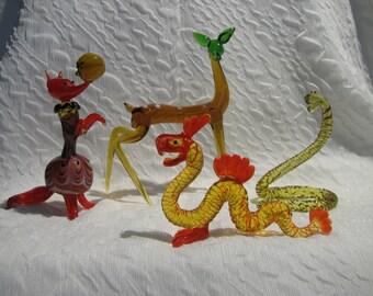 Glass figurines/Стеклянные фигурки