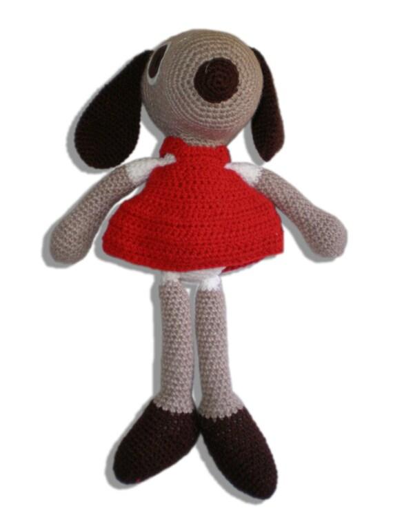 Amigurumi Doll Legs : Amigurumi dog doll with red dress and long legs by Lallila ...