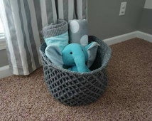 Made-to-Order Crocheted Honey Combed Storage Basket