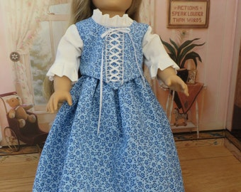 18 Inch Doll Clothes - Victorian Top and Skirt