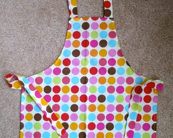 Sweet Little Child's Apron For Your Chef or Baker Bright Colorful Dots