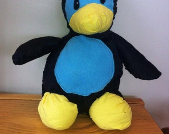 Hand sewn Penguin Plush stuffed animal
