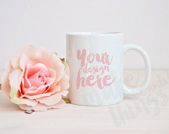 White mug mockup / Styled stock photography / Instant download /