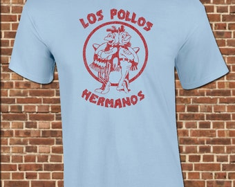 Los POLLOS HERMANOS mens T-Shirt all sizes available breaking walter white gus crystal bad chicken restaurant vintage tee UG309