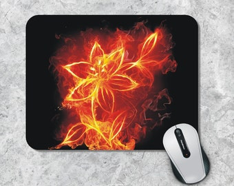 Art Mousepad / Mouse Pad - Fire Flower