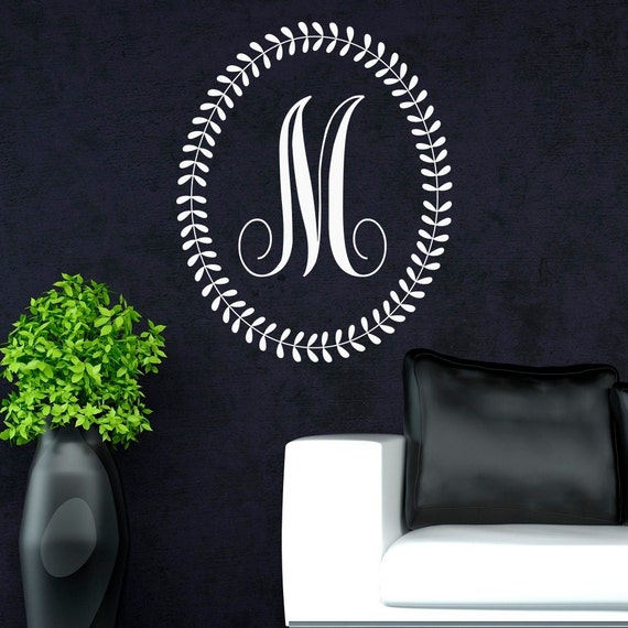 Personalized Wall Decor Letters : Initial wall decal letters personalized