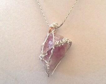 Wrapped pink quartz