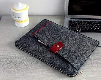 """Zipper Felt Macbook 15"""" Sleeve, Felt Touch Bar 15"""" Macbook Pro , Felt Macbook 15 inch , Felt Macbook 15 Sleeve , Felt Macbook 15"""" Case #209"""