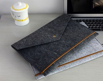 """Triangle Flap Felt Macbook 13 Case , Felt Macbook 13 inch Case , 2016 13"""" Macbook Pro , 13""""   Macbook Sleeve , 15"""" Macbook Pro Retina #211"""