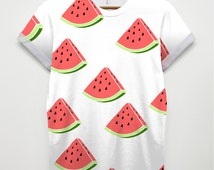 """Inct """" Watermelon """" All Over Fashion Printed Tshirt Hipster T Shirt swag Brand New Fast Delivery"""