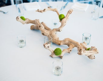 Driftwood Wedding Centerpiece - (With or Without Flowers or Succulents)
