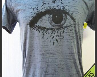 V-Neck Burnout Tee Shirt
