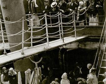 """Alfred Stieglitz Photo """"The Steerage"""" 1907, ship, immigrants"""