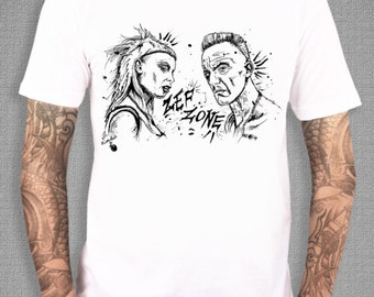 Die Antwoord, ZEF White T-Shirt from an ORIGINAL Ink Drawing, Sizes: S,M,L,XL