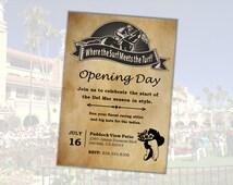 Horse Racing Party Invitation - Any Track