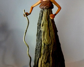 Girl of the Woods OOAK Sculpture